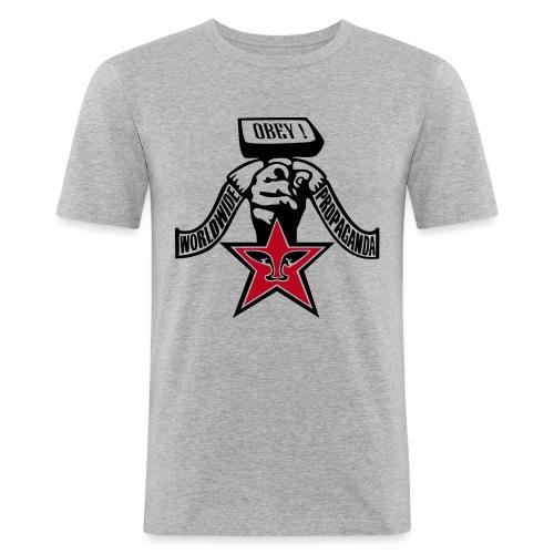worldwide propaganda - Männer Slim Fit T-Shirt