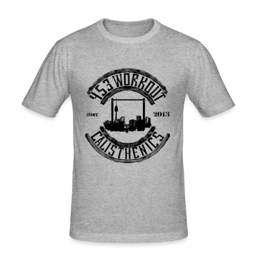 453OnlineVideologofinall png - Männer Slim Fit T-Shirt