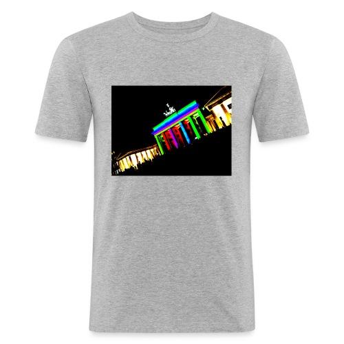 berlin2 png - Männer Slim Fit T-Shirt