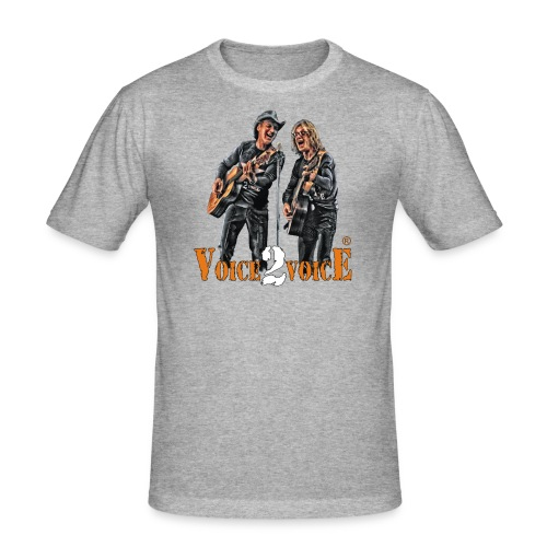 Voice-2-Voice_T-Shirt NEU - Männer Slim Fit T-Shirt