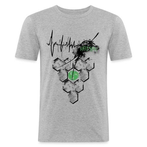 Raijin Hero-Heartbeat - Männer Slim Fit T-Shirt