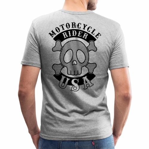 Motorcycle Rider USA - T-shirt près du corps Homme