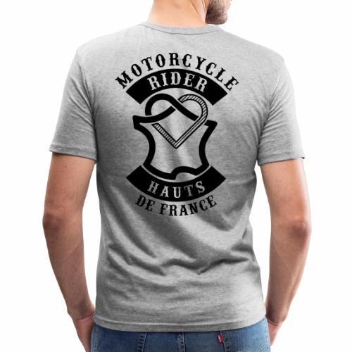 Motorcycle Rider Hauts-de-France 'Flag' - T-shirt près du corps Homme