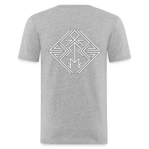 JDW-Designs Logo - Mannen slim fit T-shirt