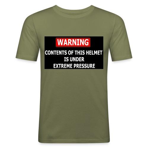 warning - T-shirt près du corps Homme