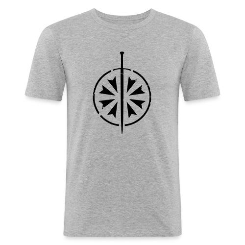 Rebay Gladiatores Logo klein - Männer Slim Fit T-Shirt
