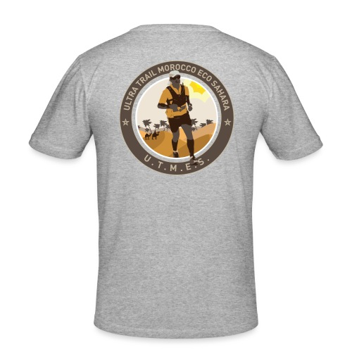 UTMES Logo ohne Gruen - Männer Slim Fit T-Shirt