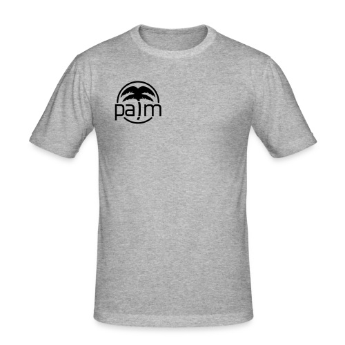 palm_logo_white - Men's Slim Fit T-Shirt