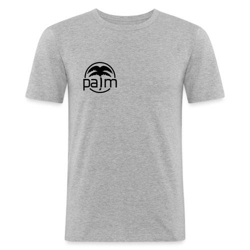 palm_logo_white - Men's Slim Fit T-Shirt