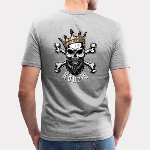 Skull Bones Logo - Männer Slim Fit T-Shirt
