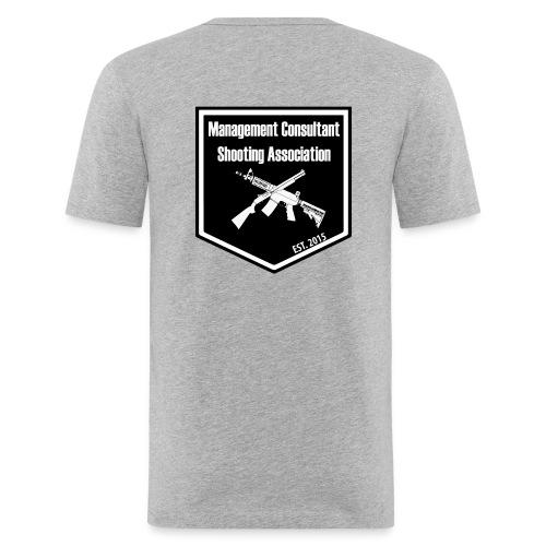 MCSA-logo - Miesten tyköistuva t-paita