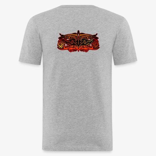 Maglia con tribale - Maglietta aderente da uomo