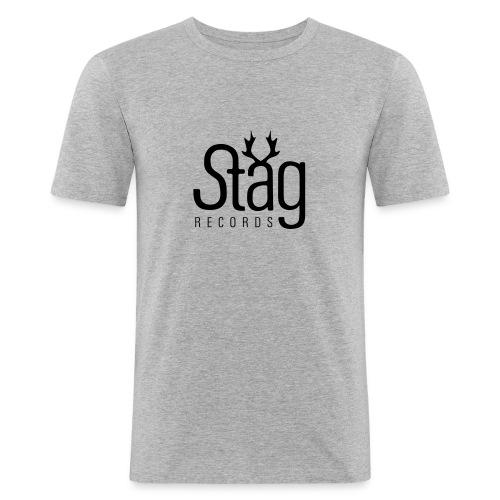 logo 2 weiss - Men's Slim Fit T-Shirt