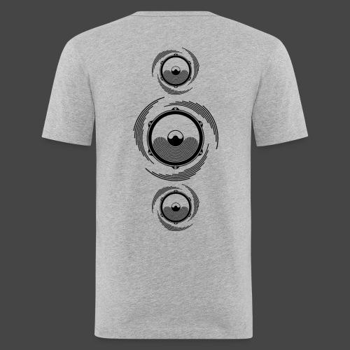 Haut-parleur Noir Spirale - T-shirt près du corps Homme