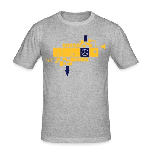 peace in a row - Männer Slim Fit T-Shirt