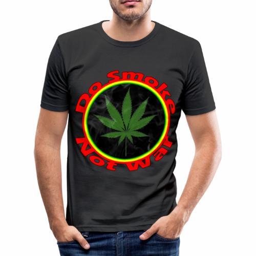 Do Smoke Not War - Männer Slim Fit T-Shirt