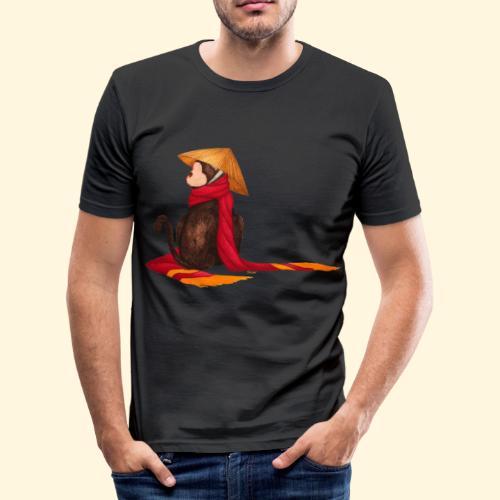 Un singe en hiver - T-shirt près du corps Homme