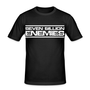 Seven Billion Enemies - BLANC - Tee shirt près du corps Homme