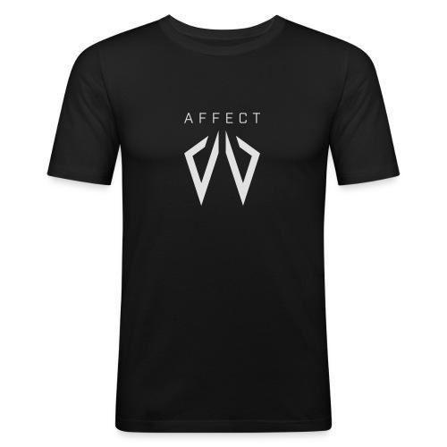 Affect Wear Logo white - Männer Slim Fit T-Shirt