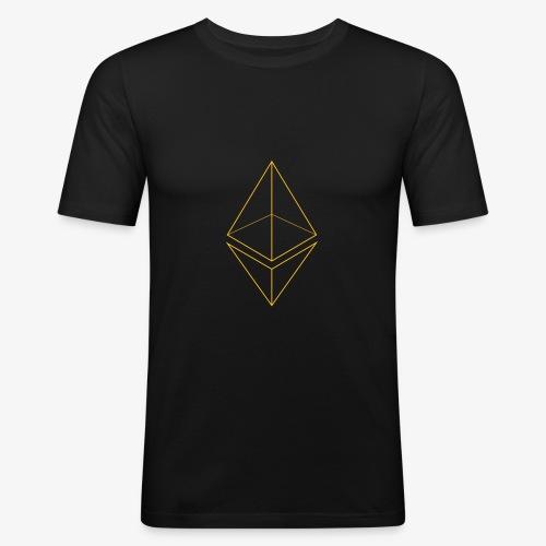 Ethereum Logo (Draht) - Männer Slim Fit T-Shirt