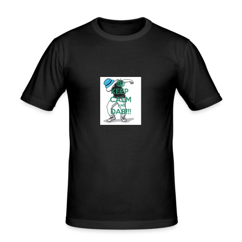 Keep calm and dab! - Herre Slim Fit T-Shirt