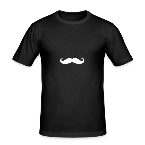 StormenTV white mustache - slim fit T-shirt