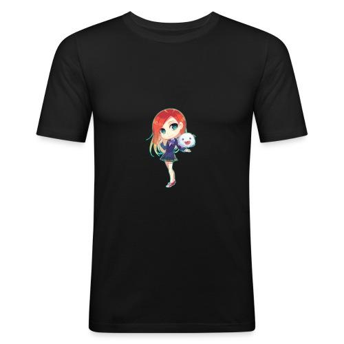 Kalischa1 Chibi - Männer Slim Fit T-Shirt