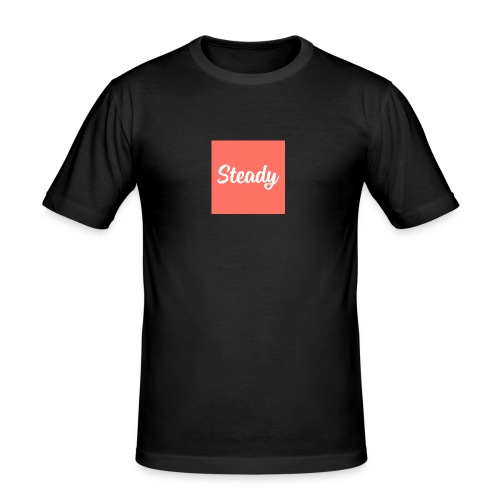 Steady Logo Square - Männer Slim Fit T-Shirt