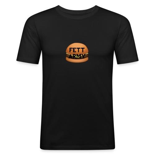 FettArmy LOGO - Männer Slim Fit T-Shirt