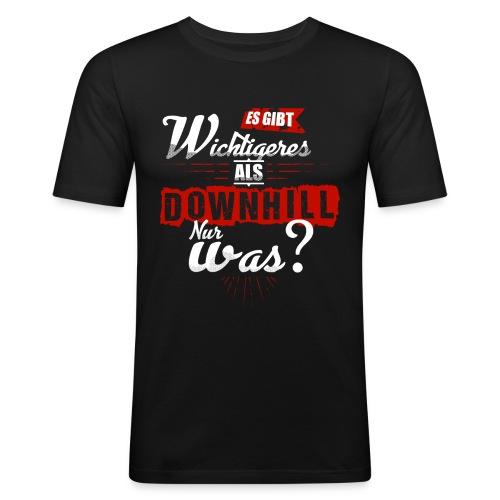 Es gibt wichtigeres als Downhill - nur was? - Männer Slim Fit T-Shirt