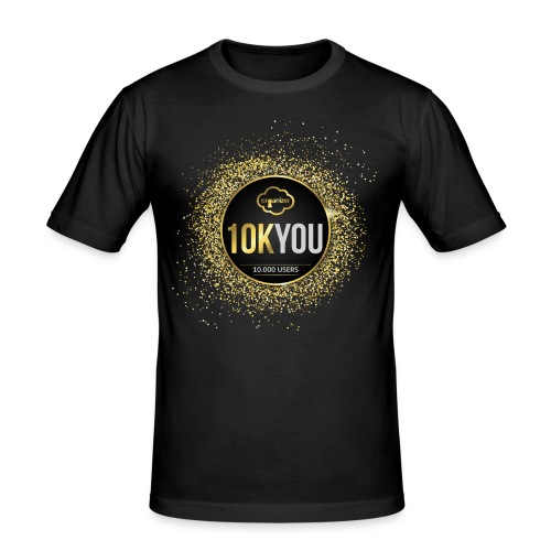 10k You! 10000 times thank you to ORGanusers! - Men's Slim Fit T-Shirt
