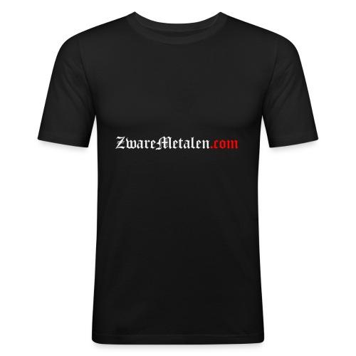 ZwareMetalen.com uitgeschreven - slim fit T-shirt