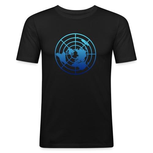 Logo Tierra Plana - Camiseta ajustada hombre
