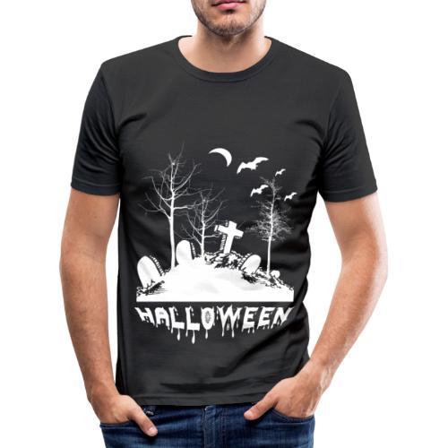 FRIEDHOF HALLOWEEN - Männer Slim Fit T-Shirt