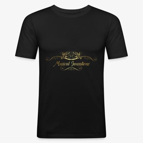 Logo Design - Männer Slim Fit T-Shirt