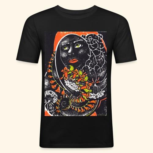 Musta madonna - Miesten tyköistuva t-paita
