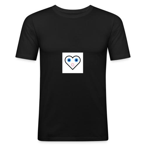 Un cœur qui cherche à exprimer sa joie. - T-shirt près du corps Homme