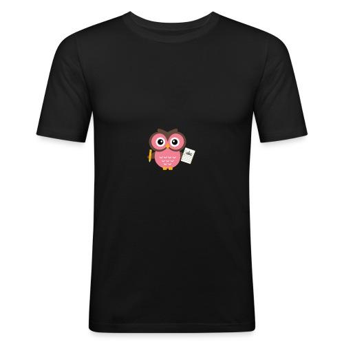 Back to School Owl - Men's Slim Fit T-Shirt