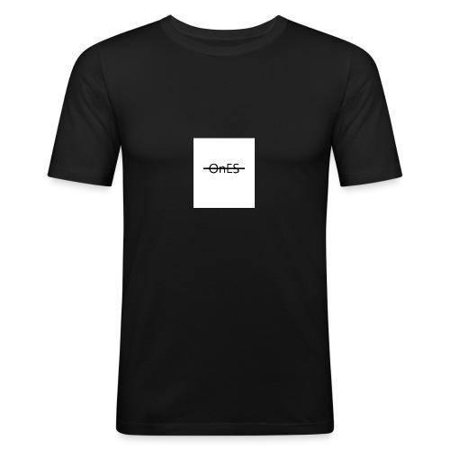Brustaufdruck - Männer Slim Fit T-Shirt