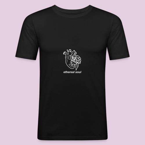 white heart // ethereal soul - Maglietta aderente da uomo