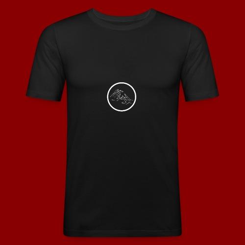 Logo Rond / Blanc - T-shirt près du corps Homme