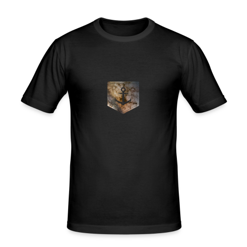 Brusttasche Galaxie Anker - Männer Slim Fit T-Shirt