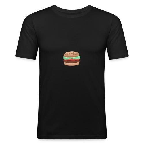 GEEKD BURGER SERIES - Männer Slim Fit T-Shirt