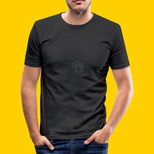 Big Logo Grey - Men's Slim Fit T-Shirt