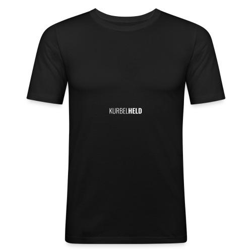 KurbelHELD Logo ohne Text - Männer Slim Fit T-Shirt