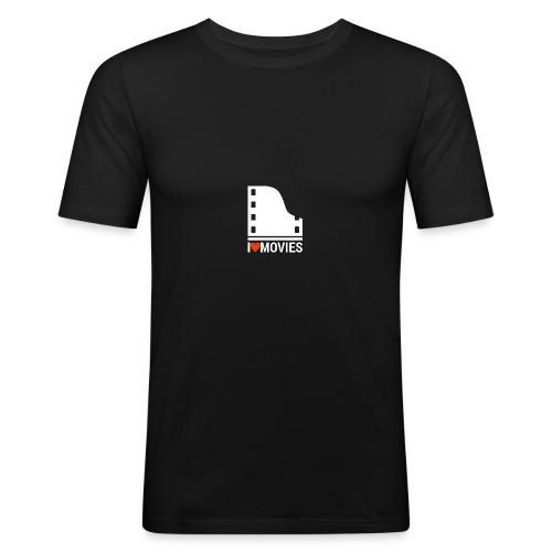 I LOVE MOVIES - Männer Slim Fit T-Shirt