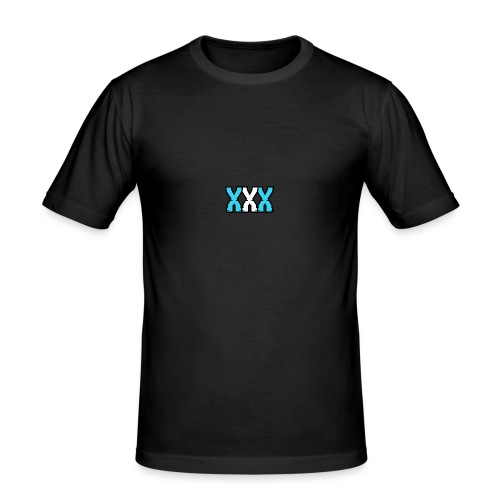 XXX (Blue + White) - Men's Slim Fit T-Shirt