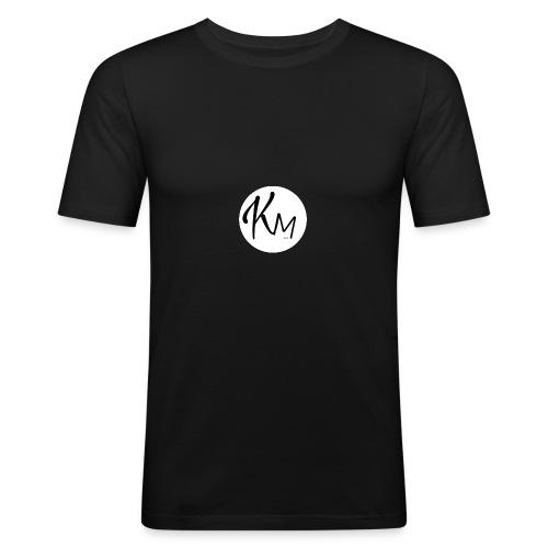 KM Logo - Männer Slim Fit T-Shirt