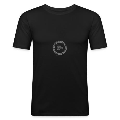 Dornenkrone –Glaube Hoffnung Liebe - Männer Slim Fit T-Shirt