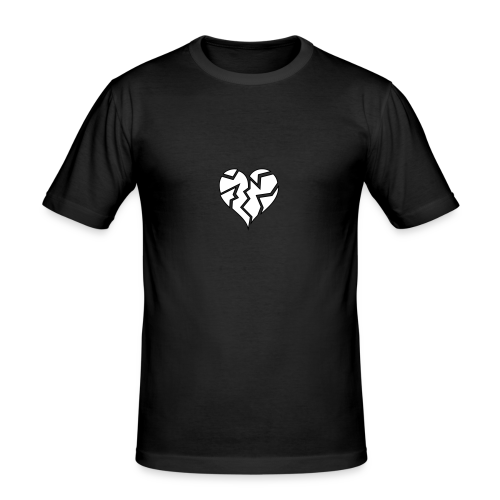 White HeartBroken - Men's Slim Fit T-Shirt